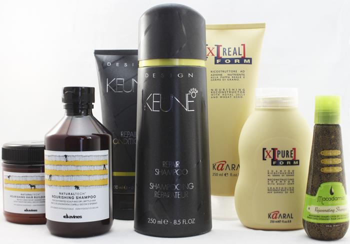 Средства для восстановления повреждённых волос