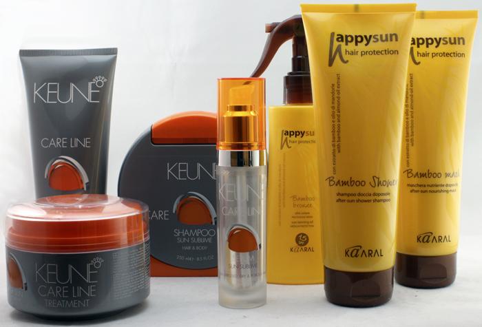 косметика для волос с защитой от солнца