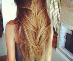 длинные и блестящие волосы